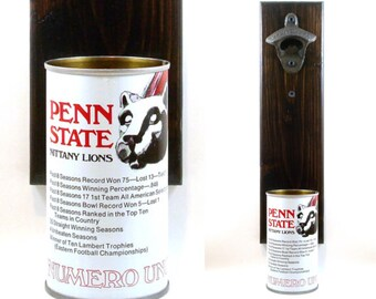 4ae34e96ea2 Penn State Wall Mounted Beer Bottle Opener With A Nittany Lions Beer Can  Cap Catcher - Father's Day, Groomsmen, Or Brother Gift Idea
