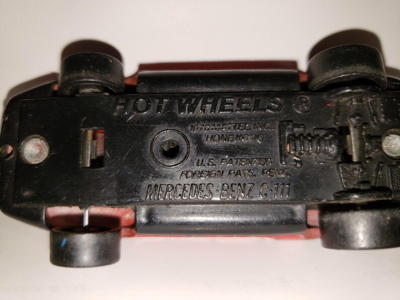 Hot Wheels Mercedes Benz C-111, Vintage Hot Wheels Die Cast Toy Car,  Redline Tires, Men's Gift, Christmas Gifts, Boyfriend Gift