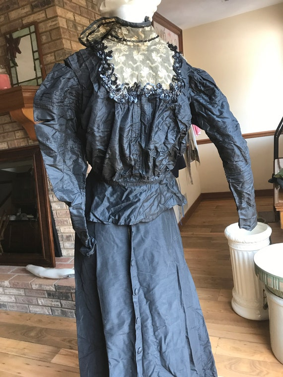 Edwardian Black Skirt, Antique Cloths,  Antique Vi