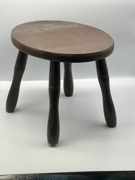 Awesome Vintage Wood Stool Step Stool Milk Stool Childs Stool Wood Stand Display Stool Four Legged Stool Ibusinesslaw Wood Chair Design Ideas Ibusinesslaworg