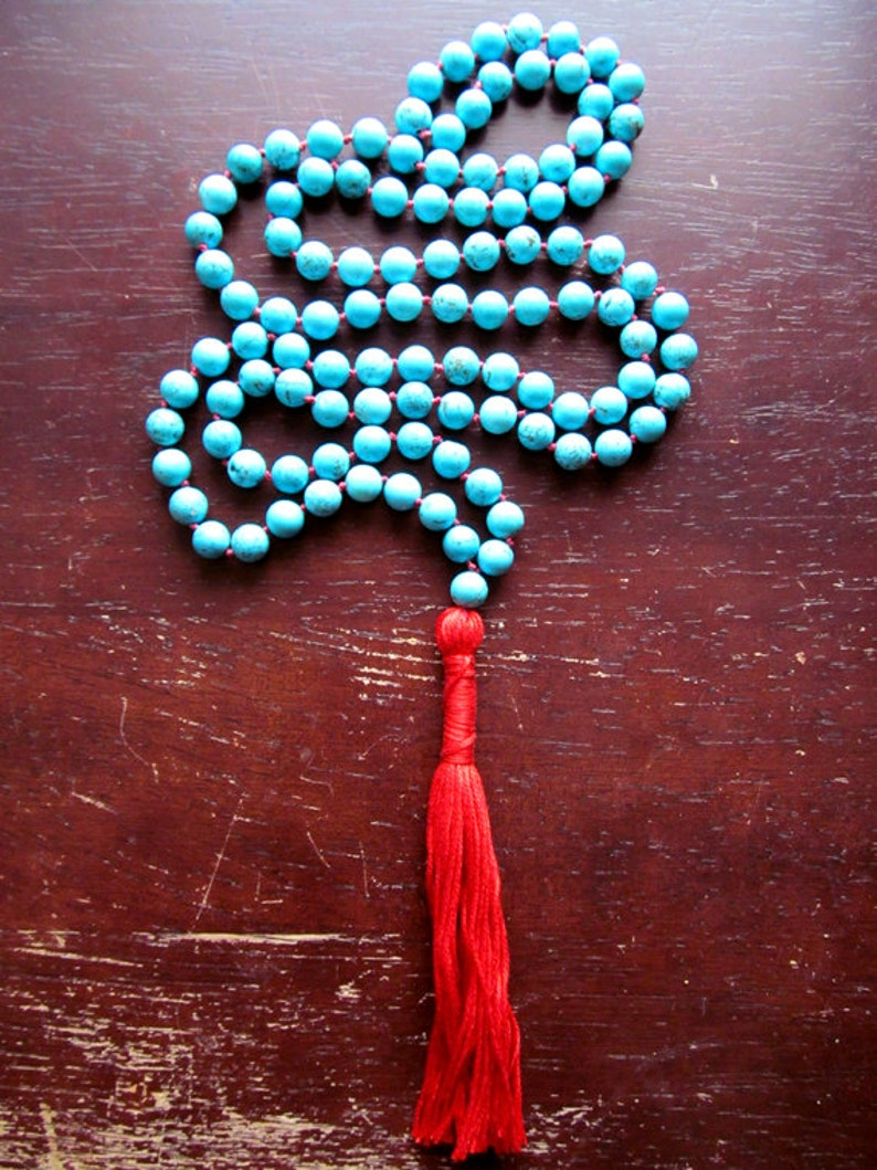 108 Mala Beads Japa Mala Mala Necklace Meditation Beads Prayer Beads Yoga Jewelry Turquoise Necklace Turquoise Mala Beads
