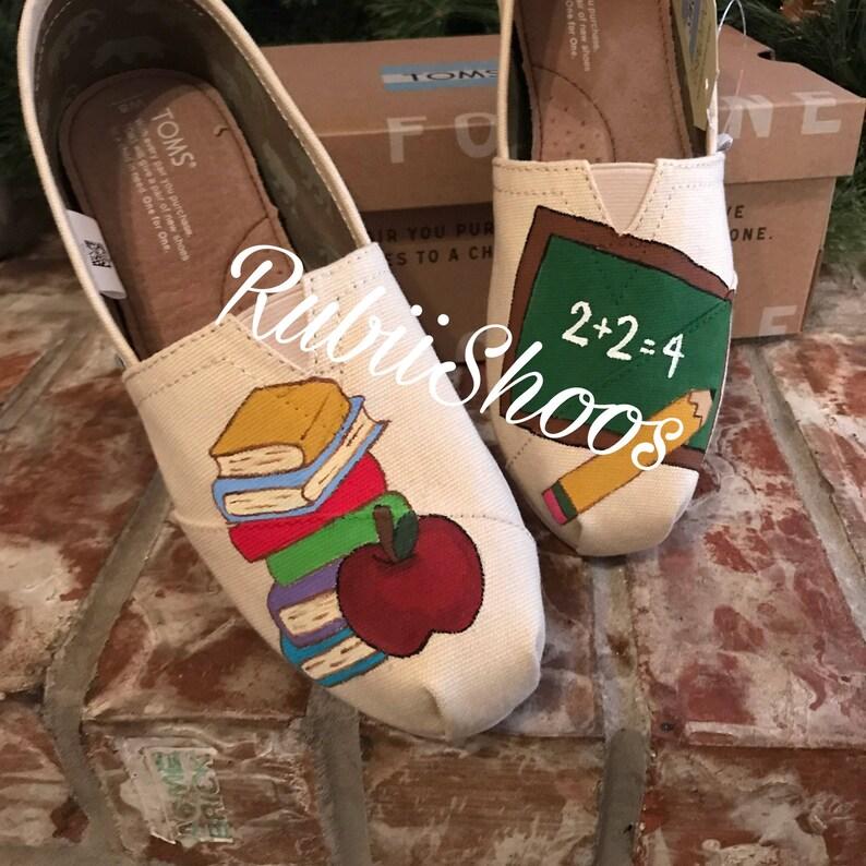 bc1d27ba0e5685 RubiiShoos Original School Toms Pencil Chalk Board books