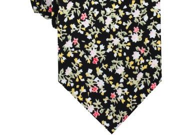 840194a5e71c Midnight Garden Flower Floral Necktie (C521-T85) Mens Neckties 8.5CM Wide  Men Ties Tie Wedding Groomsmen Grooms Men's Normal Suit