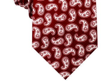 6b231006a266 Red Paisley Teardrop Necktie (C552-T85) Mens Neckties 8.5CM Wide Men Ties  Tie Wedding Groomsmen Grooms Men