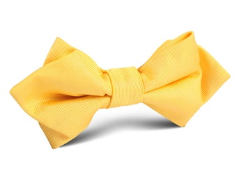 Men s Bowtie Banana Yellow Diamond Bow Tie (X079-M-DBT) Pre-Tied Point Tip  Bowties for Men Ties Adult Classic Male Pointed 12cf0a7580c