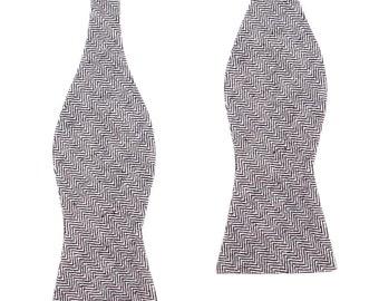 Mens Linen Tie 8.5CM Navy Blue Herringbone Zig Zag Natural Organic Fibers Ties Necktie Neckties Neck Thick Wide Normal Men Wedding L027-T85
