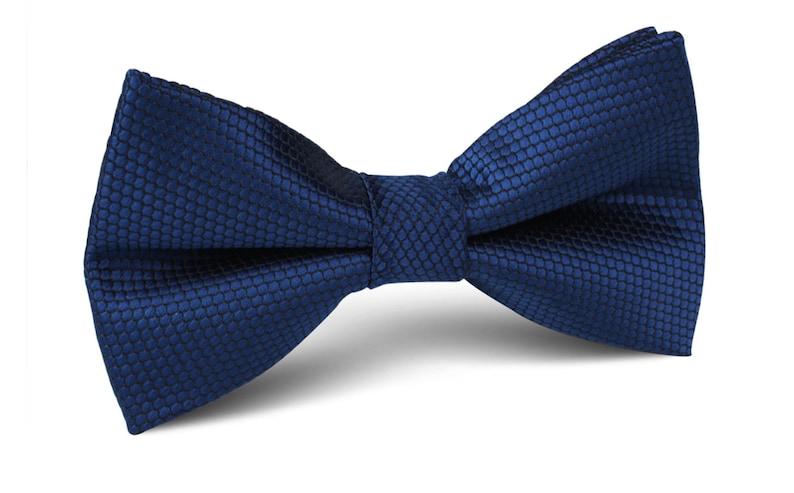 05cbbc9686ce Navy Blue Honey Texture Bow Tie M623-BT Men's Bowtie | Etsy