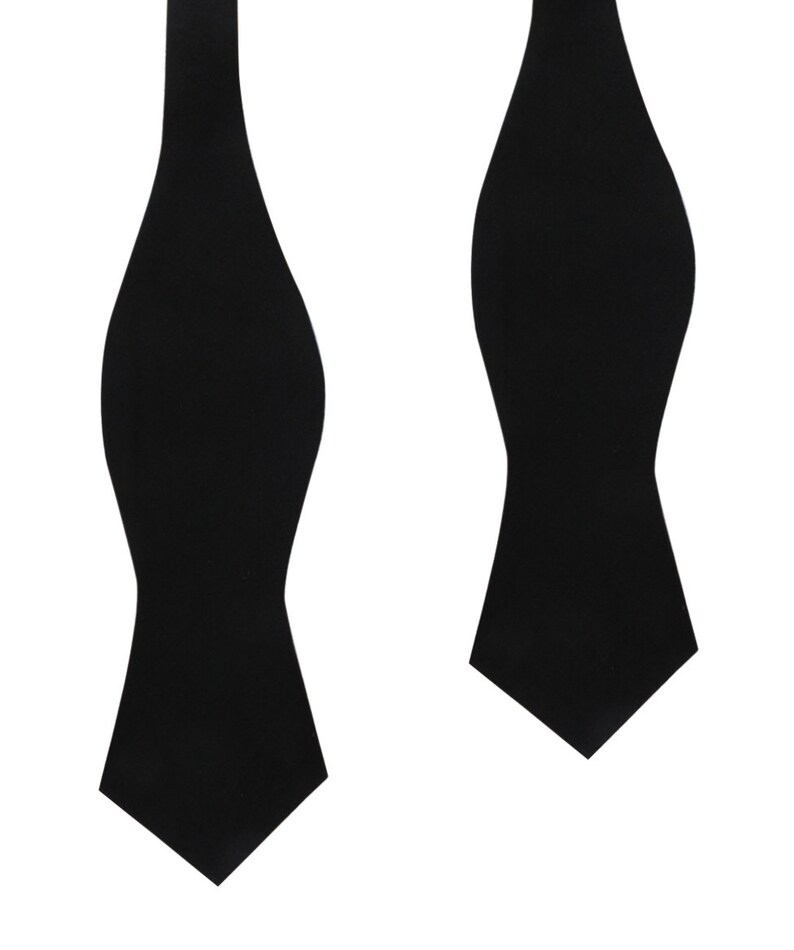 fe5fd63af84e Men's Untied Point Bowtie Black Linen Self Tie Diamond Bow | Etsy