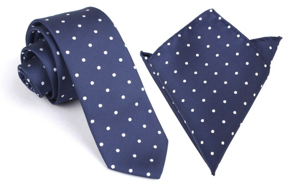 Pocket Square Combo Seafoam Green with White Polka Dots Handkerchief Thin Slim Ties Necktie Wedding Narrow M138-S+P Matching Skinny Tie