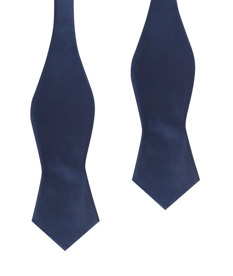 dc9d7f2274ba Men's Untied Point Bowtie Navy Blue Line Self Tie Diamond | Etsy