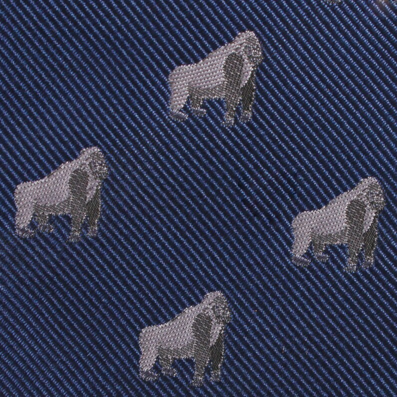 Men/'s Gorilla Skinny Tie M250-ST6 6CM Wide Thin Ties Narrow Slim Neckties Necktie Animal Animals Design Novelty Mens Men Print Style Suits
