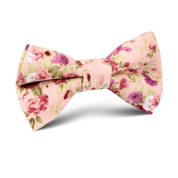 Fard à joues roses Roses Floral enfant noeud papillon (C564-KBT) mariage Page garçons Bowtie Bowties liens enfant enfants bambin garçon pour bébés garçons