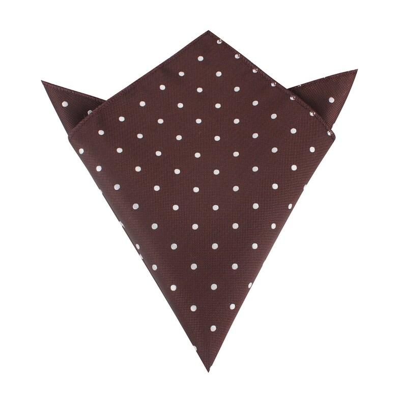 Mens Dusty Pink /& White Pin Dot Handkerchief Pocket Square Hankies Hanky