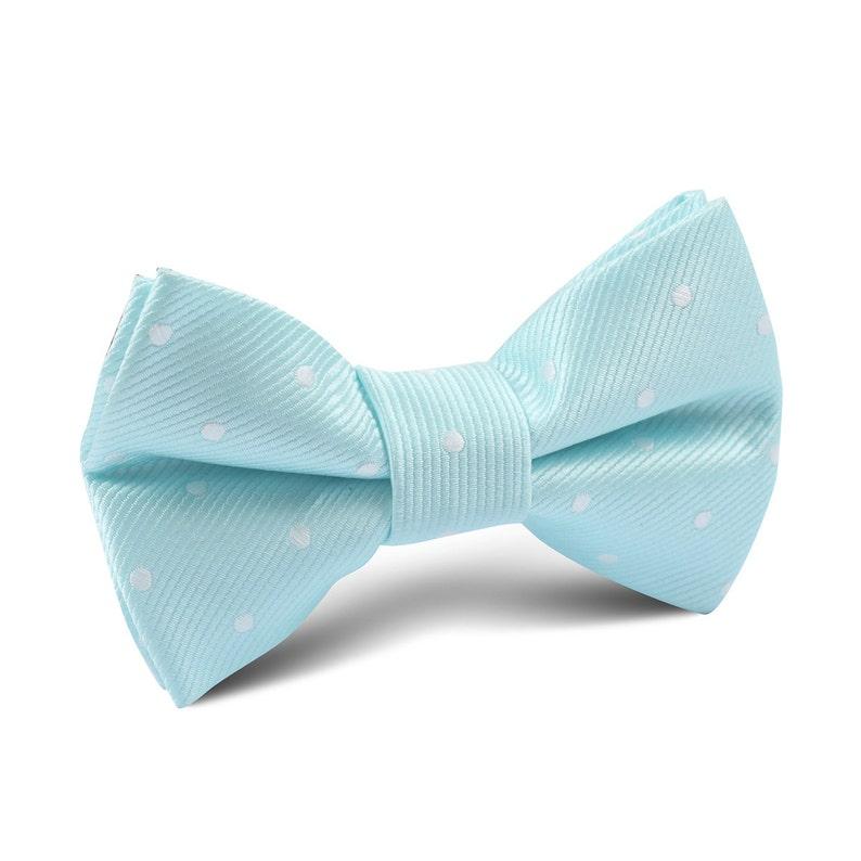 c03364c153fb Kid's Bowtie Mint Blue Kids Bow Tie M136-KBT Baby | Etsy