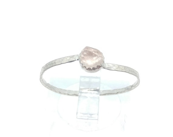 Real Pink Tourmaline Ring | Sterling Silver Ring Sz 10.5  | Raw Pink Tourmaline Crystal Ring | Uncut Gemstone | October Birthstone