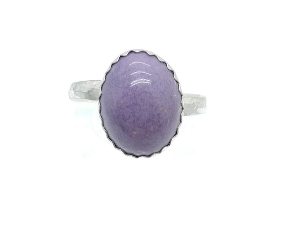 Simple Purple Ring | Purple Jasper Ring | Sterling Silver Ring Sz 7.75 | Burro Creek Agate | Burro Creek Jasper | Purple Agate Ring