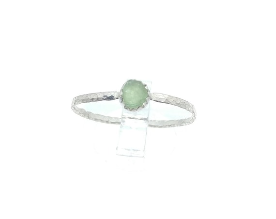 Real Green Tourmaline Ring | Sterling Silver Ring Sz 9.5  | Raw Green Tourmaline Crystal Ring | Uncut Gemstone | October Birthstone