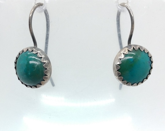 Chrysocolla Earrings | Sterling Silver Earrings | Gemstone Earrings | Chrysocolla Jewelry | Boho Earrings | Natural Stone Earrings | Dangle