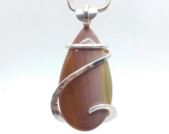 Ombre Raindrop Royal Imperial Jasper Pendant | Fine Jasper Jewelry | Sterling Silver | Pink Stone Necklace | Green Stone Pendant