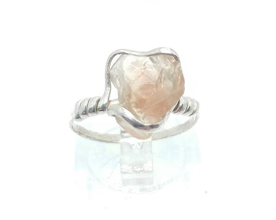 Raw Crystal Ring | Schiller Oregon Sunstone Ring | Rough Crystal Ring | Sterling Silver Ring Sz 6.75 | Rough Gemstone Ring | Raw Stone Ring