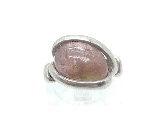 Watermelon Tourmaline Ring | Sterling Silver Ring sz 5.5 | Green Tourmaline Ring | Pink Tourmaline Ring | Gemstone Ring | Pink Stone Ring