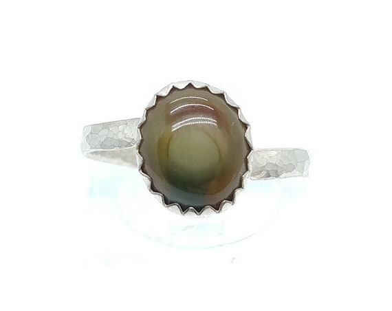 Rare Royal Imperial Jasper Ring in Sterling Silver Ring Sz 7.5