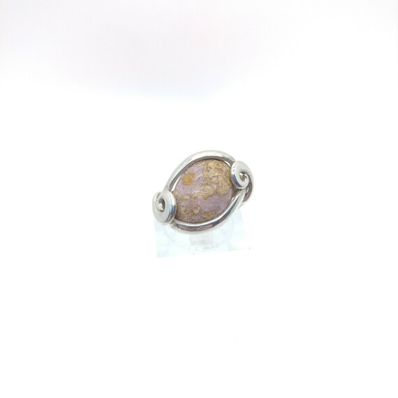 Calico Lace Agate Ring | Sterling Silver Ring Sz 5 | Purple Agate Ring | Calico Agate Ring | Purple Stone Ring | Boho Ring | Gift for Her