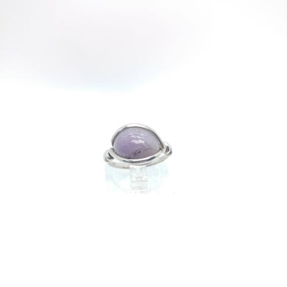 Aztec Lace Agate Ring | Purple Agate Ring | Eco Friendly Sterling Silver Ring Sz 5.5 | Purple Stone Ring | Raw Cut Stone Ring | Lavender