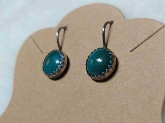 Chrysocolla Earrings | Sterling Silver Earrings | Gemstone Earrings | Chrysocolla Jewelry | Boho Earrings | Natural Stone Earrings | Dangle