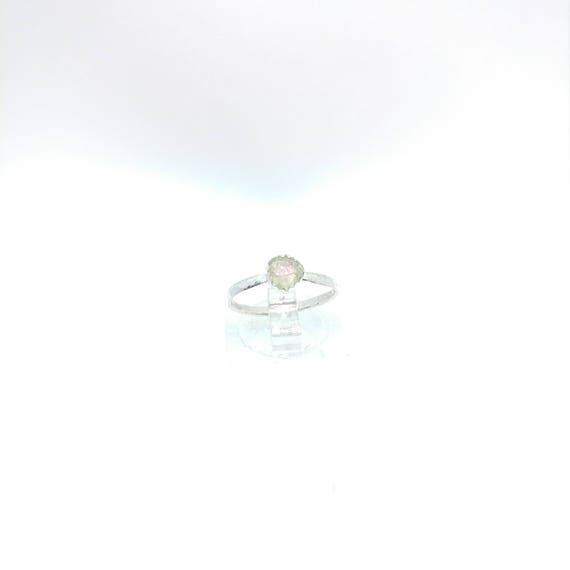 Watermelon Tourmaline Ring | Sterling Silver Ring Sz 5.5  | Raw Bicolor Tourmaline Ring | Raw Crystal Ring | Uncut Gemstone Ring