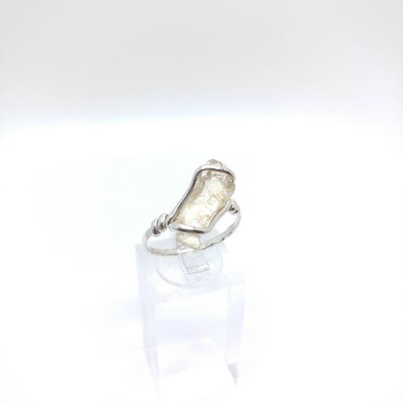 Rough Gemstone Ring | Raw Oregon Sunstone Ring | Sterling Silver Ring Sz 9.25 | Red Oregon Sunstone | Sunstone Jewelry | Raw Sunstone Ring