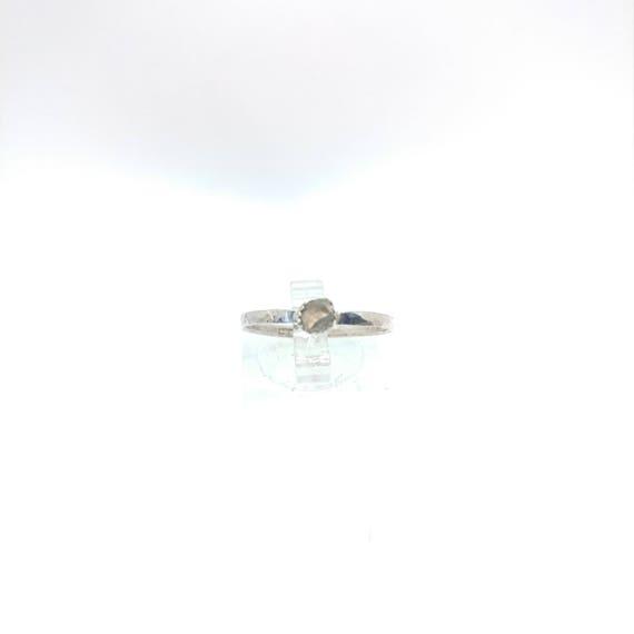 Raw Oregon Sunstone Ring | Sterling Silver Ring Sz 8.5 | Oregon Sunstone Stacking Ring | Sunstone Stackable Ring | Stacker Ring | Stack Ring