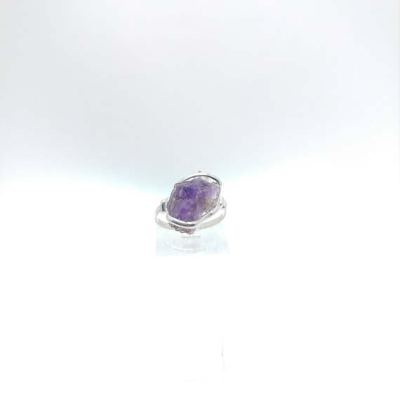 Melody Stone Crystal | Super Seven | Sterling Silver Ring Sz 7 | Amethyst | Smokey Quartz | Cacoxenite | Lepidocrocite | Geothite | Rutile
