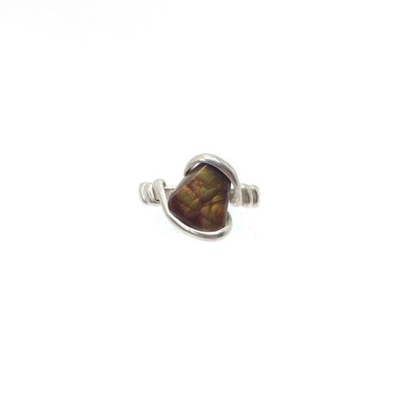 Rare Gemstone Ring | Fire Agate Ring | Handmade Sterling Silver Ring Sz 10.25 | Mexican Fire Agate Ring | Fire Agate Jewelry