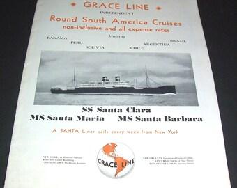 1950/'s Cruise Argentina Antarctic  Poster  A3 Reprint