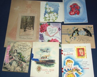 Small lot of vintage greeting cards