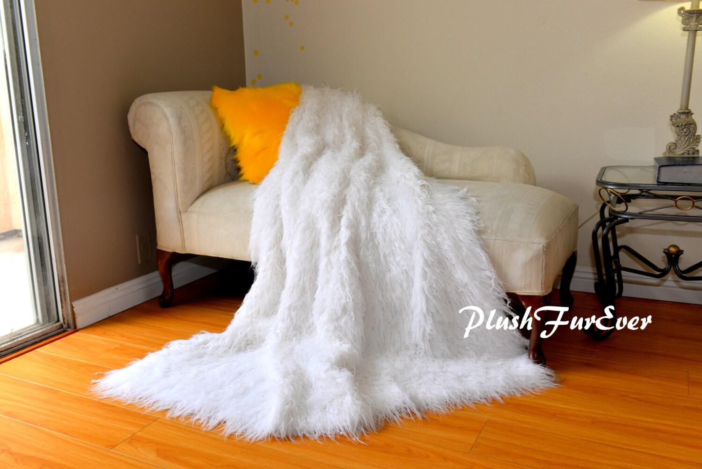 3/' x 5/' Snow White Cloud Shape Shaggy Faux Fur Rug Nursery Area Rug PlushFurEver