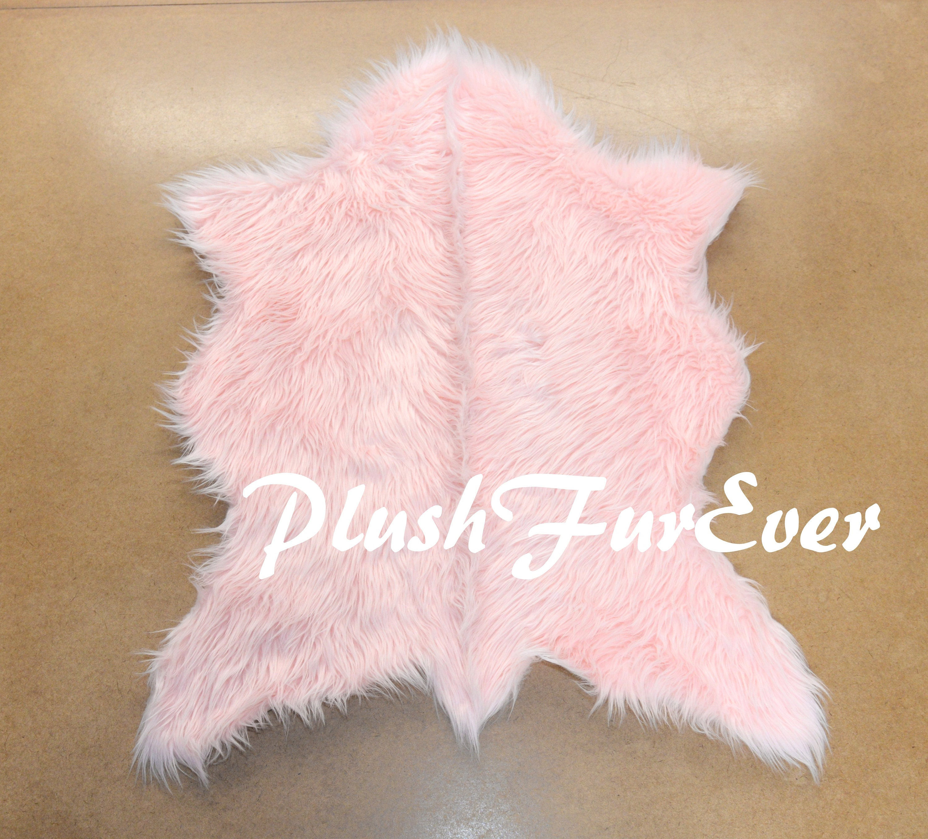 Cute Foxy Baby Pink Light Pink Long Fur Luxury Shaggy Area