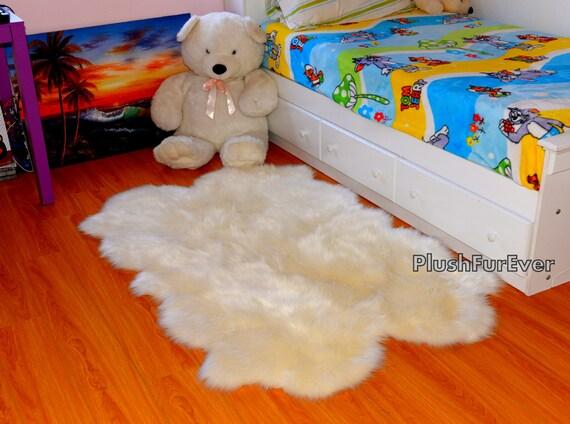 schaffell flokati baby nursery area rug akzent dekor quad etsy. Black Bedroom Furniture Sets. Home Design Ideas