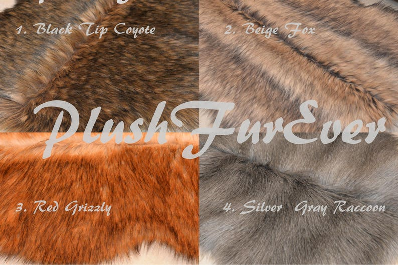 New Fur PLACEMATS or Centerpieces Plush Faux Fur Table Mats  b1b5e5229bd66