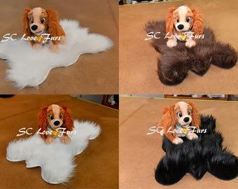 Pets Fur Bedding Shaggy Faux Fur Plush Mats Pads Pet Supplies Dogs Cats Liner Nesting Pet Blankets Soft Cozy Long Furs White Brown Black