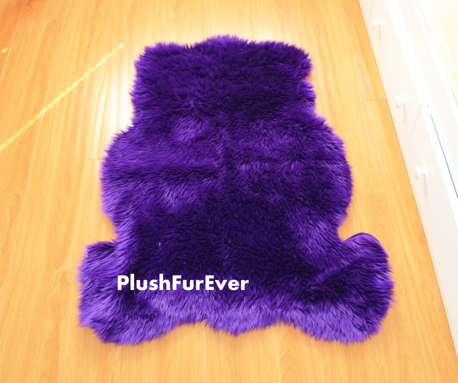 30 X 42 Purple Front-View Teddy Bear Rug Valentines Gift