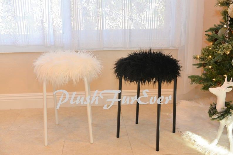20 peluche pelliccia sgabelli faux fur copertine incluse home etsy