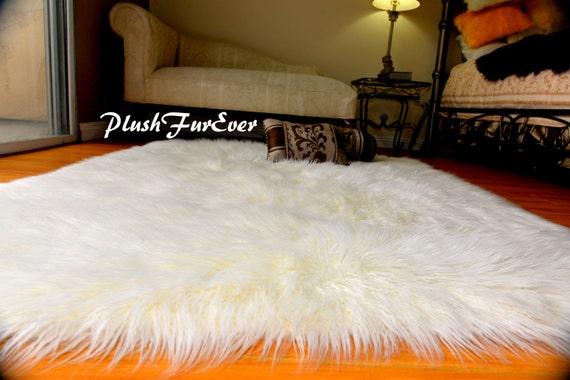 Tappeto Morbido Salotto : Pelliccia ecologica tappeto bianco pelliccia mongolia etsy