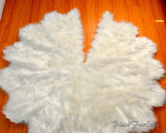 58c1278847 Faux Fur Tree Skirt Christmas Tree Decor White Sheepskin Faux | Etsy