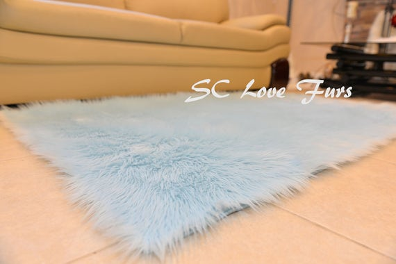 Mongolian Faux Fur Rugs Sheepskin Purple White Nursery Area Rugs Premium Accents