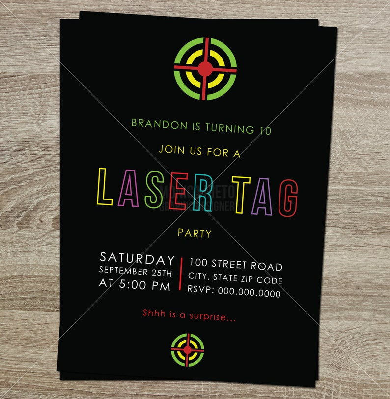 picture about Printable Laser Tag Birthday Invitations known as Printable Laser Tag Birthday Bash Invitation / Boys Birthday Invites /Laser Tag Get together