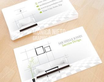 Printable home decorator business card template interior custom printable interior design business card template interior designer interior decorator fbccfo Gallery