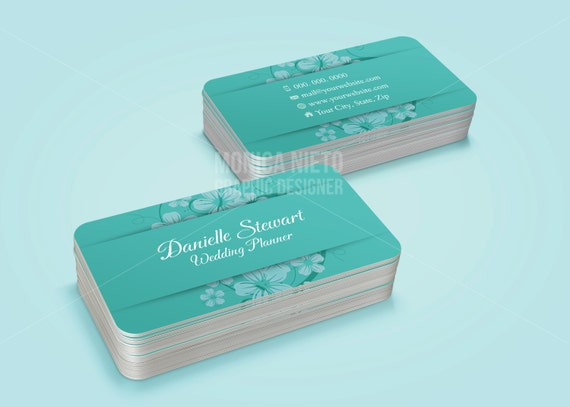 Custom wedding planner business card template event planner fbccfo Choice Image
