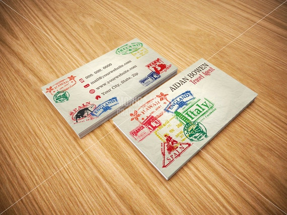 travel agent business cards travel agency business cards etsy